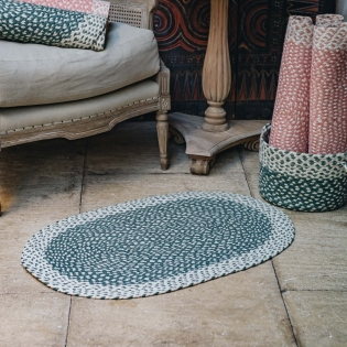 Organic Jute Braided Oval Rugs