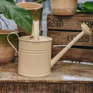 Cream Metal Watering Can