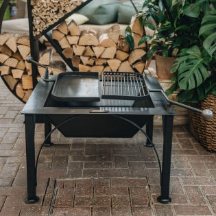 Fire Pit Box with two Swing Arms