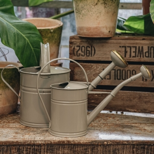 Grey Metal Watering Cans