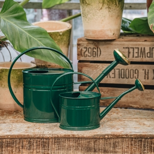 Dark Green Metal Watering Cans