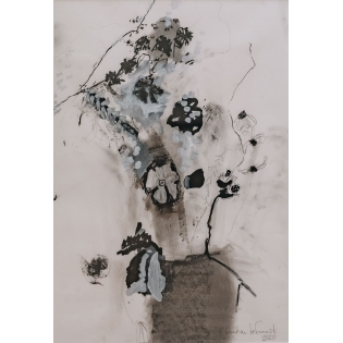 Christian Ziani de Ferranti: Black and White Hedgerow Flowers