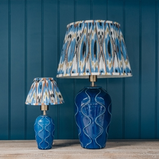 Bobcheck Table Lamps in Blue