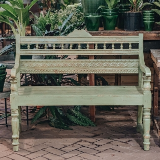 Chartwell Green Indian Mango Wood Bench Bobbin