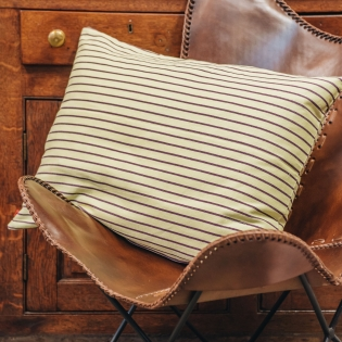 Juanita Cushion in Yellow and Brown
