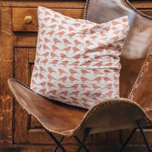 Sparrow Cushion in Pink
