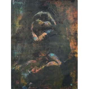kip kavallares: embrace I,abstract painting,semi-abstract painting,burford art gallery,mixed media painting,original artwork,original art,artists in the cotswolds,oxfordshire art galleries,gloucestershire artist,local artist