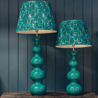 Wobster Table Lamps Turquoise