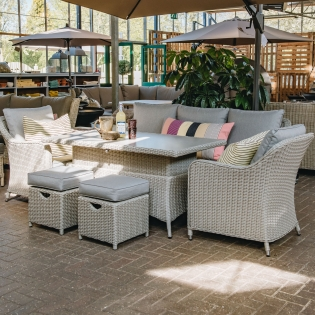 Antigua Lounge Set in Stone Grey