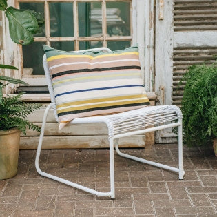 Lido Garden Chair White, cushion not included, available online
