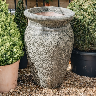 Anthracite Round Lipped Volcano Pots (Lipped)