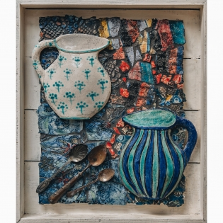 Diana Tonnison: Two Jugs and Vintage Spoons