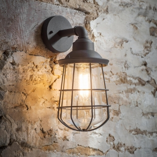 Finsbury Wall Light in Carbon Steel (Image courtesy of Garden Trading Company)