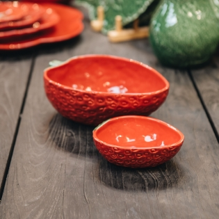 Strawberry Oval Bowls