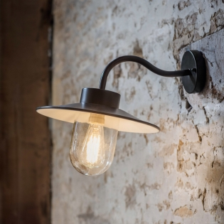 Swan Neck Light in Carbon Steel (Image courtesy of Garden Trading Company)