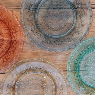 Coloured Glass Large Plates