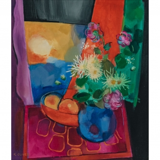 Raymond Oliver: Flowers in a Blue Jug