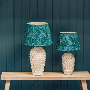 Stucco Table Lamp in Stone
