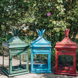 Regency Lanterns Green, Blue, Red
