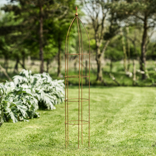 Swedish Rusted Metal Obelisk – 260cm