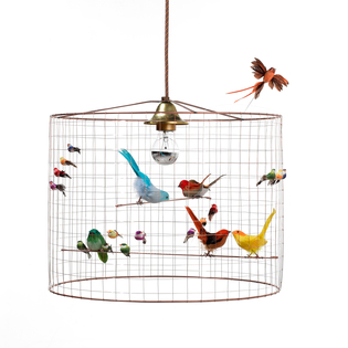 Mathieu Challières Birdcage Ceiling Light – Small
