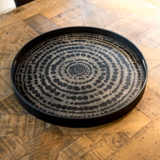 Black Beads Driftwood Tray