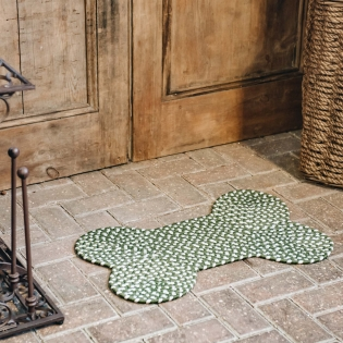 Eco Braided Bone Olive Rug