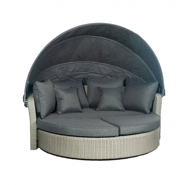 Barbados Day Bed in Stone Grey from Pacific Lifestyle