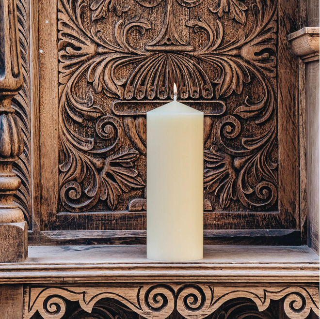 Lit Burford's Church Candle