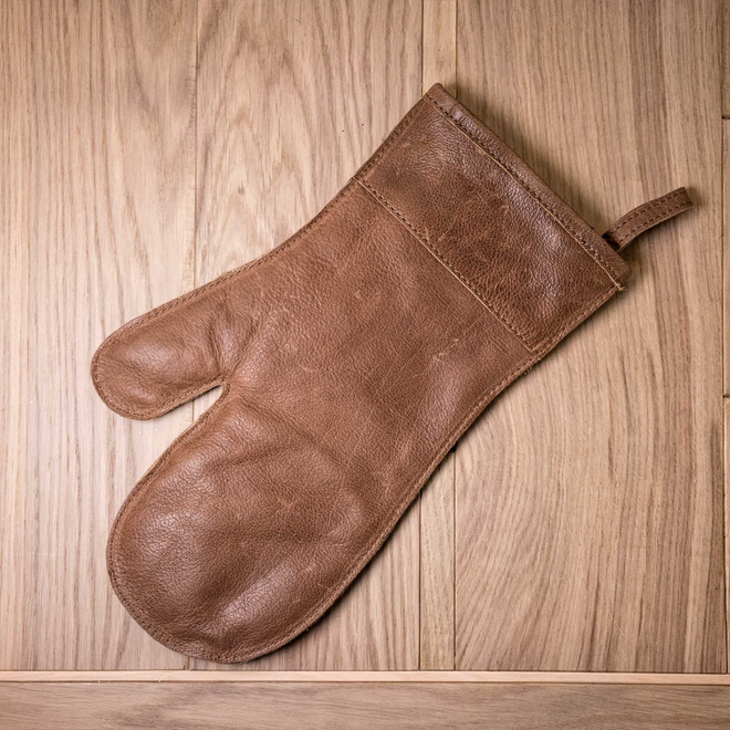 Leather Oven Mitt – Tan Brown
