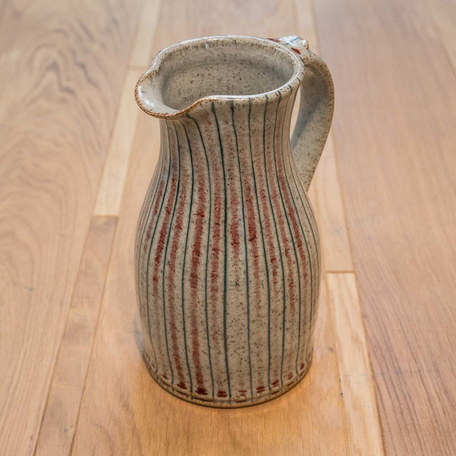 Selborne Narrow Neck Jugs Small - Red Pinstripe