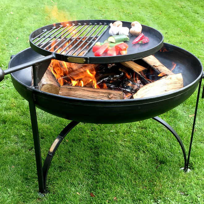 Plain Jane Fire Pit with Swing Arm