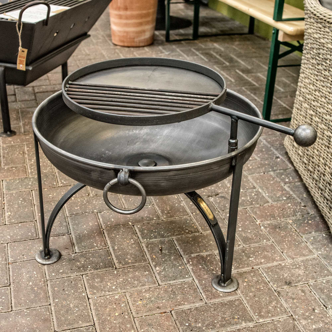 Plain Jane Fire Pit with Swing Arm - 60cm