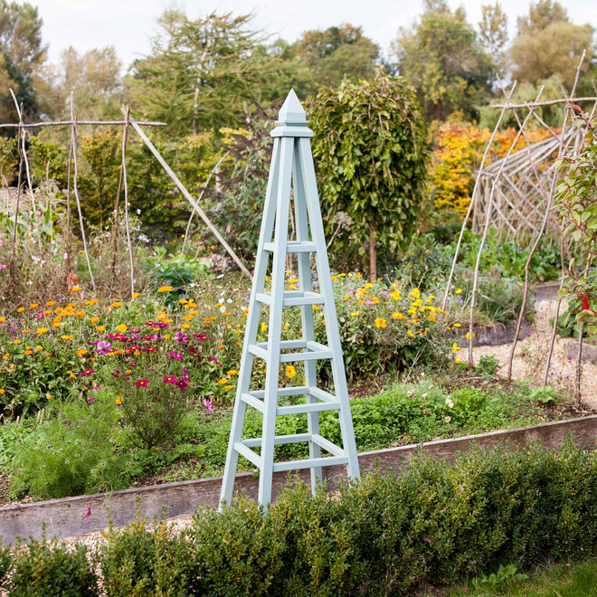 Regal Wooden Garden Obelisk - Sage Green