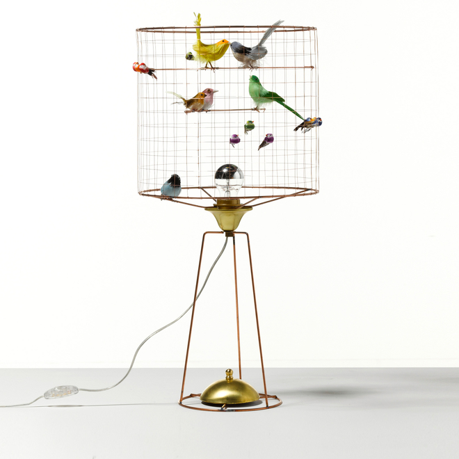 Mathieu Challières Birdcage Tall Table Lamp