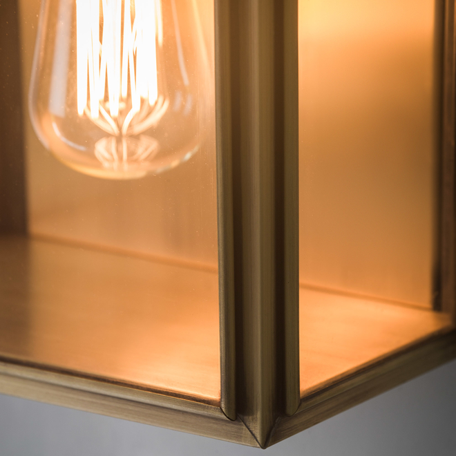 Ash Wall Light Large Twin Brass detail