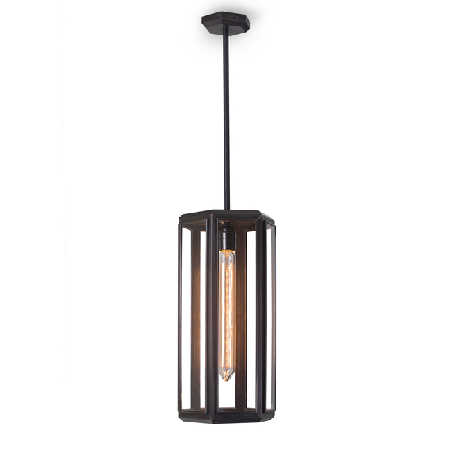 Oak Pendant Light Bronze with Drop Rod fitting