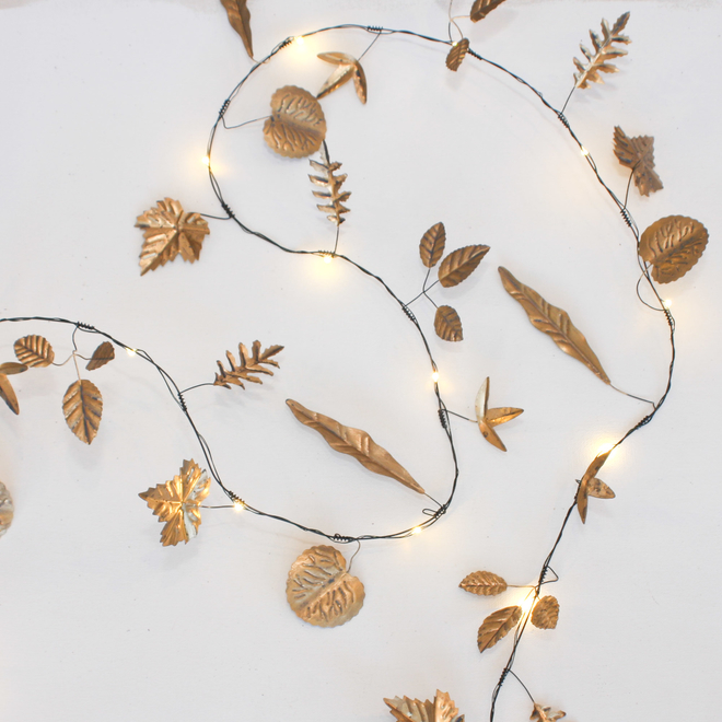Gold Leaves Outdoor LED Lights