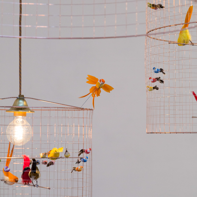 Mathieu Challières Birdcage Ceiling Lights
