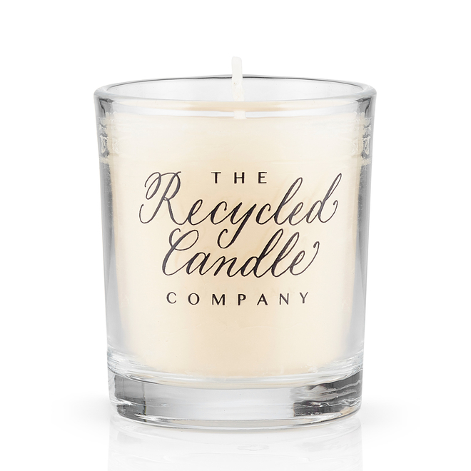 Clear Glass Votive Candles with Recycled Wax 30cl