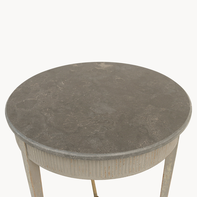 Woodcroft Colonial Stone-topped Side Table