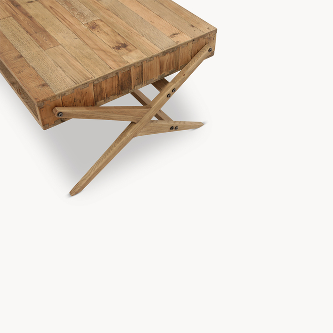 Woodcroft Letterbox Bleached Pine Coffee Table