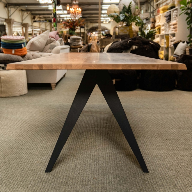 Delta Industrial Oak Dining Table 240cm