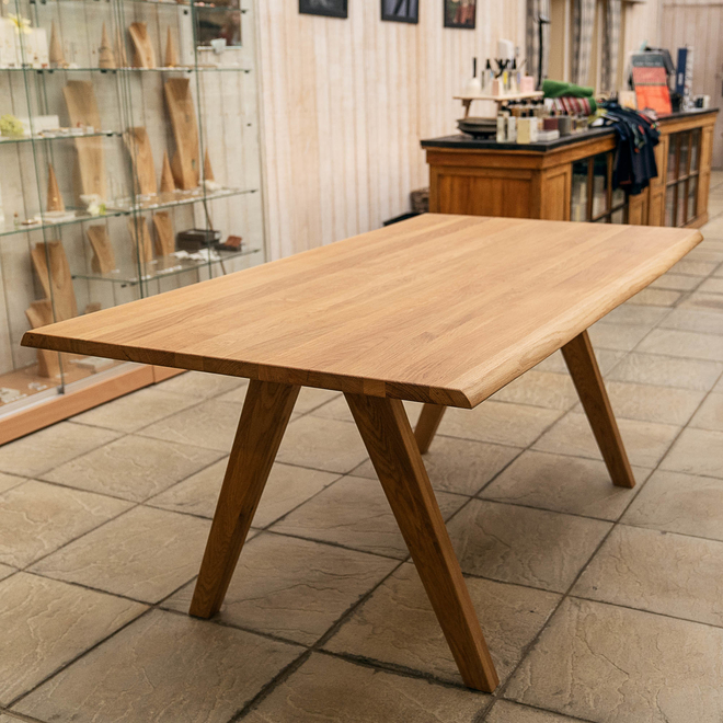 Delta Lacquered Oak Dining Table 180cm