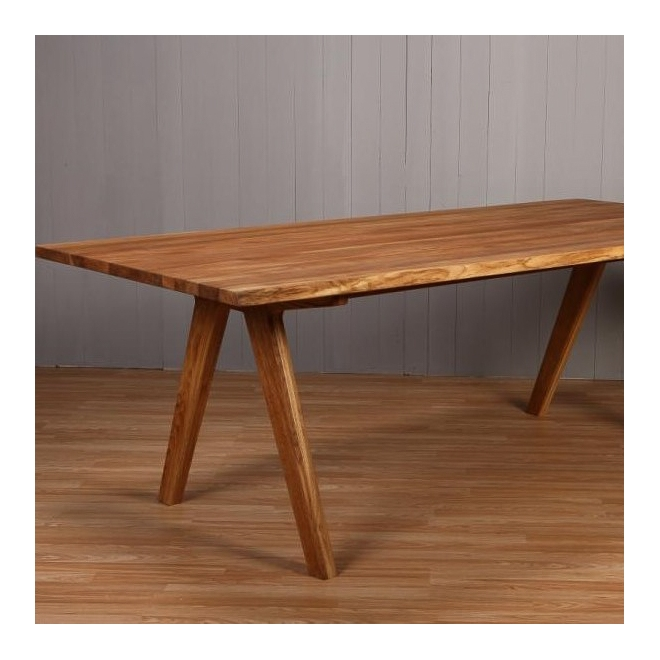 Delta Oiled Oak Dining Table 180cm