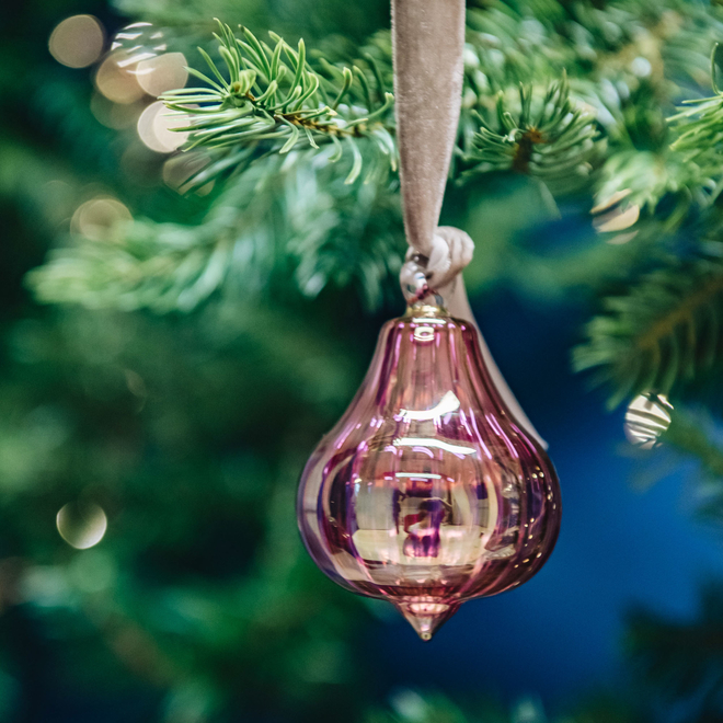 Fig Glass Baubles Purple