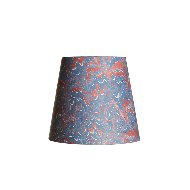 Pooky Tall Tapered Marbled Shade - Blue/Red Arno - 14cm
