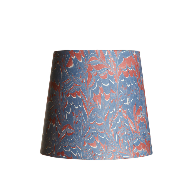 Pooky Tall Tapered Marbled Shade - Blue/Red Arno - 20cm