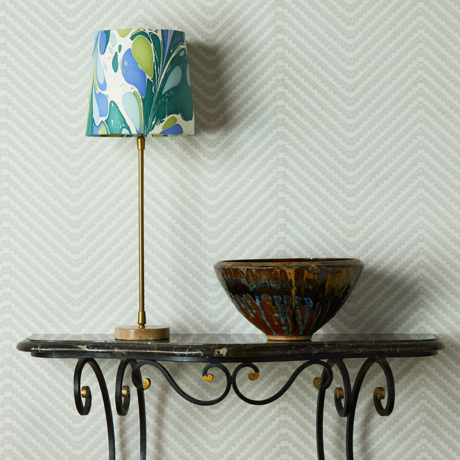 Pooky Tall Tapered Marbled Shade - Green/Blue Roya
