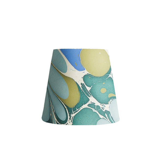 Pooky Tall Tapered Marbled Shade - Green/Blue Roya - 14cm